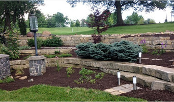 Limestone Outcropping with Various Perennials and Shrubs