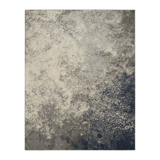 Nourison Passion Transitional Area Rug, Charcoal/Ivory, 8'x10'