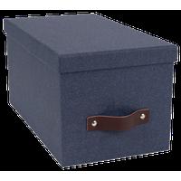 Silvia Lidded Storage Box, Small, Canvas Blue C38