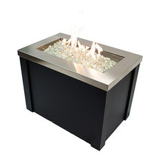 Outdoor Greatroom - Providence Fire Pit Table With SS Top - Fire Pits