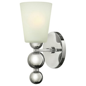 Zelda Modern Wall Light, Polished Nickel
