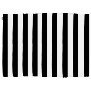 Striped Floor Rug, Black and Natural, 150x200 cm