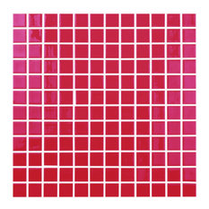 "12.5""x12.5"" Red Glass Tile"