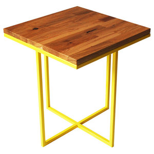 Cheese Department Servez Coffee Table, Yellow and Oak