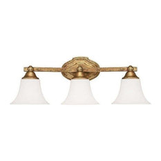Capital Lighting Fixtures Blakely 3 Light Bathroom Vanity Light Antique Gold Bathroom