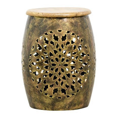 Peetal Drum Side Table