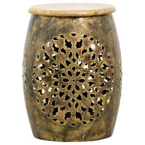 Peetal Drum Side Table
