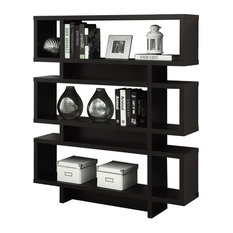 Monarch 55-inch Modern Hollow-Core Bookcase In Cappuccino