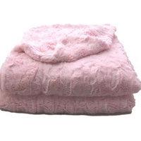 Luxury Super Soft Pink Lux Faux Fur Throw Blanket