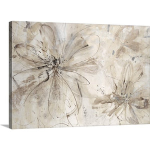 Milk And Honey Floral Wrapped Canvas Art Print Contemporary Prints And Posters By Great Big Canvas
