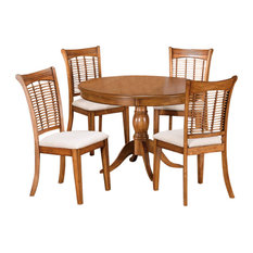hillsdale bayberry 5 piece round dining set oak dining sets