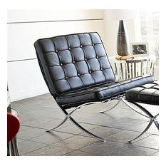 Cordoba Tufted Lounge Chair in Black
