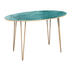 Ondine Hairpin Dining Table - Pacific Waters