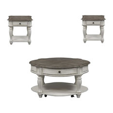 3 Piece Set of Round Coffee Table and (Set Of 2) End Table