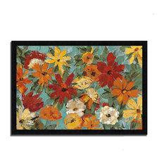 """""""Bright Expressive Garden"""" By Silvia Vassileva, Framed Painting Print"""
