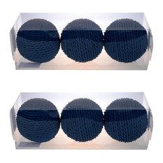 "D4"" Twine Decorative Sphere Balls, Set of 6, Blue"