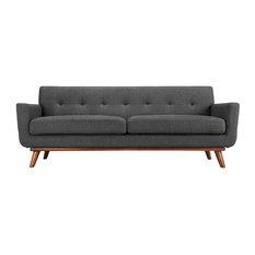 Renn Upholstered Fabric Sofa/ Gray