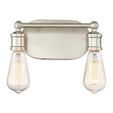 2-Light Vanity Fixture, Brushed Nickel