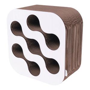 Eco Cardboard Wine Rack, White