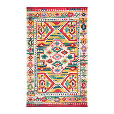 Rizzy Home Zingaro Area Rug, Natural/Gold Blue Teal Blue Pink Red Purple, 9'x12'
