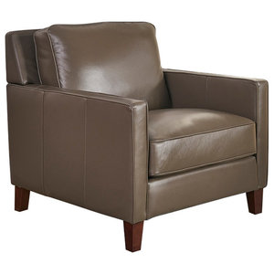 Hydeline New Haven 100% Leather Chair, Granite