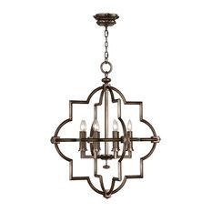Fine Art Lamps 860040 Liaison Rubbed Bronze Pendant