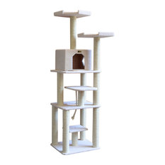 trendy cat furniture stylish armarkat 78 classic cat tree ivory furniture 50 most popular contemporary for 2018 houzz