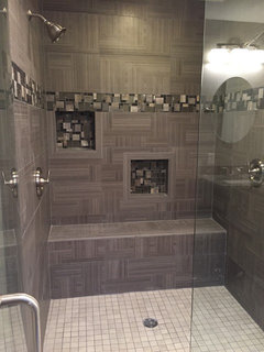 From mid century to contemporary master bathroom for 9x12 bathroom design