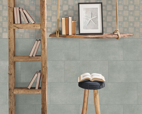 Fly Zone Fiber Porcelain Tile Series - Salvia Mix - Wall And Floor Tile