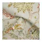 Retreat Blue Citrine Floral Fabric, Sample