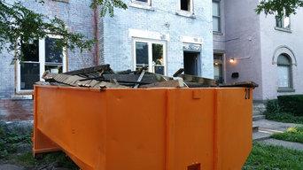 Dumpster rental Columbus Ohio, Brick House Demo