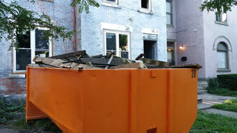 Dumpster rental Columbus Ohio, Brick House Demo