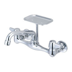 Central Brass - Wall-Mount 2-Handle Kitchen Faucet in Chrome - Kitchen Faucets