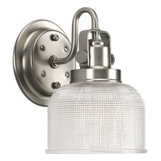 progress lighting progress lighting archie 1 light bathroom light antique nickel bathroom
