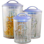 Reston Lloyd - Reston Lloyd Shadow Iris, 3-Piece Acrylic Canister Set Corelle - Reston Lloyd is a leading manufacturer and distributor of kitchenware, specializing in enamel on steel products. For nearly 30 years, Reston Lloyd been dedicated to providing the highest quality products.
