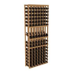 Wine Racks America 7 Column Display Row Wine Cellar Kit, Pine, Oak