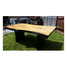 Unique solid wood tables & sink