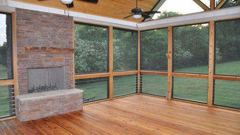 Custom cedar screenroom addition