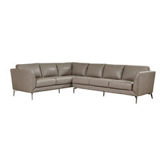 Lazzaro Leather Inc - Anverse RSF Sofa-Chaise Sectional - Sectional Sofas