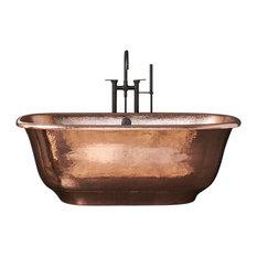 Santorini Freestanding Copper Bathtub, Polished Copper