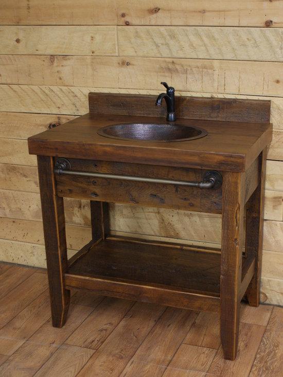 Bathroom Vanity Reclaimed Wood reclaimed wood rustic bathroom vanities