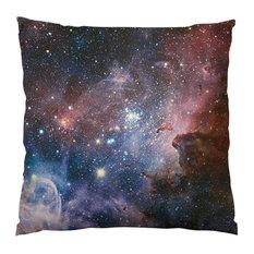 "Carina Nebula Throw Pillow, 14""x14"", Stuffed"