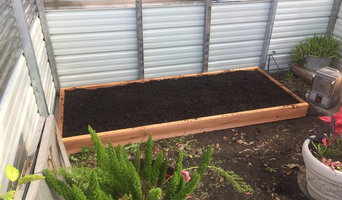 Raised bed in customers greenhouse