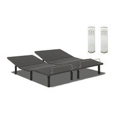 King Split Adjustable Beds Base With Remotes, Set of 2