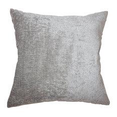 Gefion Solid Floor Pillow Silver