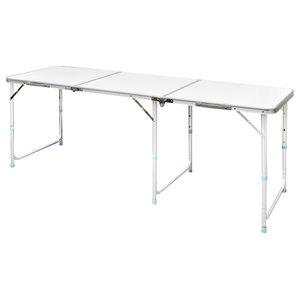vidaXL Foldable Camping Table Height Adjustable Aluminium, 180x60 cm
