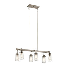 Linear Chandelier 6-Light, Classic Pewter