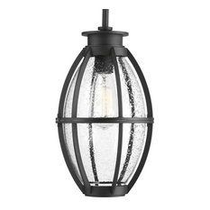 Progress Lighting Pier 33 1-Light, Black Hanging Lantern