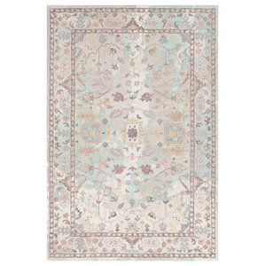 """Hand Hooked Classic Nouveau Rectangle Area Rug CSN-1003, 5'x7'6"""""""