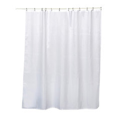 Evideco   Honeycomb Fabric Shower Curtain Polyester White   Shower Curtains